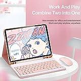 2020 新型 iPad Pro 12.9 キーボード ケース 12.9インチ マグネット脱着式 ワイヤレス bluetoothキーボード付き Apple Pencil ワイヤレス充電対応・ペンシルホルダー付き オートスリープ スタンド機能付き 軽量 薄型 アップルペンシル収納可能 全面保護 カバー (2020 iPad Pro 12.9, ピンク)