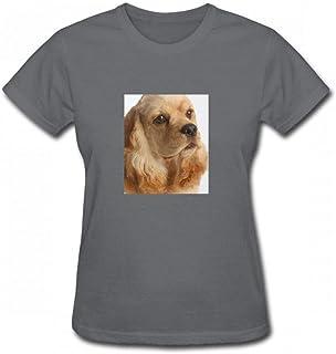 トップス コッカースパニエルヘッドショット Women T-Shirt レディーズ Tシャツ