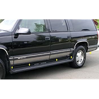 Amazon Com Made In Usa Compatible With 1992 1999 Chevy Suburban With Fender Flare Rocker Panel Trim 6 25 Wide 10pc Automotive
