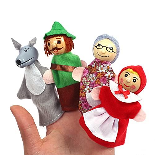 Shulcom Marionetas de Dedo para Contar Cuentos, Tres Cerdos, Castillo de Sirena, Princesa, Teatro de Dibujos Animados, Cosplay, Juguete Educativo para niños, Regalo