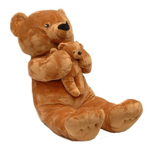 Sweety Toys 4256 marrone orsacchiotto XXL mamma 90 cm con il bambino 28cm- marrone