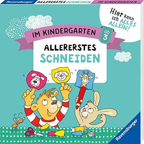 Buchseite und Rezensionen zu 'Im Kindergarten: Allererstes Schneiden' von Kirstin Jebautzke