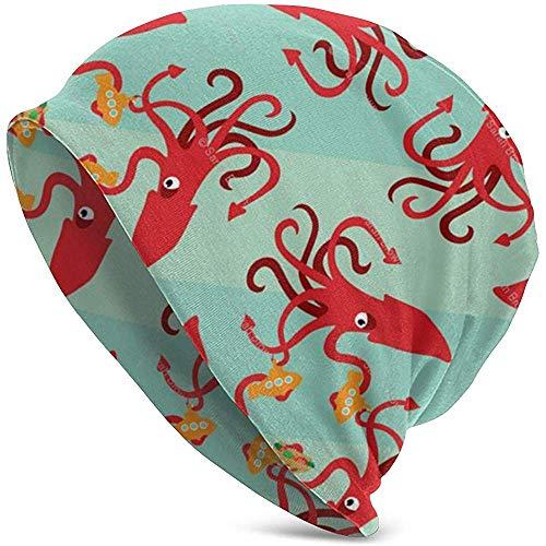 H.D. Beanies Hat Die Giant Squid Eats Subs Slouchy - Gorro multifunción...