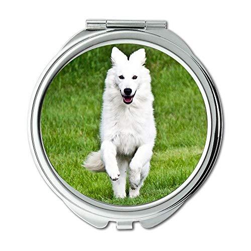 Yanteng Spiegel, Travel Mirror, English Bulldog Deutsch Schäferhund, Taschenspiegel, 1 X 2X Lupe