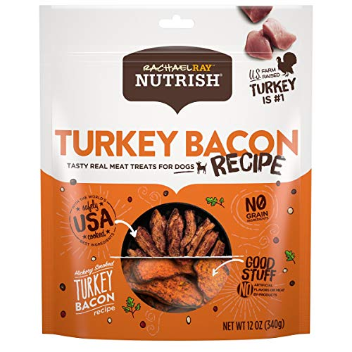 Rachael Ray Nutrish Turkey Bacon Real Meat Dog Treats Hickory Smoked Turkey Bacon Recipe 12 Ounces Grain Free