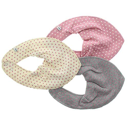 Pippi Scarf Bib Ao-Printed (3-Pack), Pink (Old Rose), Taglia unica Bimbo