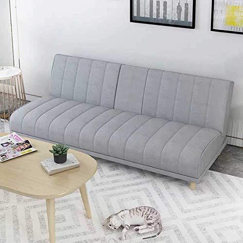 FACAZ Sofá Cama futón, sofá Cama Acolchado de Tela Moderna, sofá de salón Plegable Convertible con Mesa de Centro Oculta y 4 Patas sólidas para Sala de Estar o Dormitorio, Amarillo