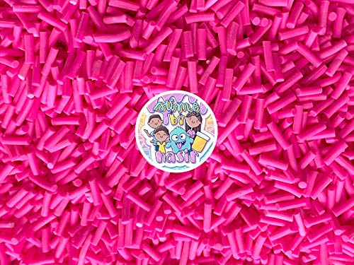 50g Colorful Fake Candy Sweets Sugar Crystals Sprinkles Decoden Resin Cabochons Decorations for Fake Cake Dessert Simulation Food Fake Dessert Polymer Clay (Hot Pink)
