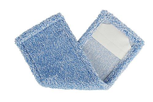 BELLANET Wischbezug Mopp Aufnehmer aus Microfaser-Plüsch für alle gängigen Klapphalter 50 cm, Melange blau