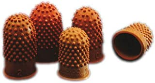 Rexel Thimblettes Size 00 – 17 Dark Orange (10 Pack)