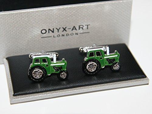 Boutons de manchette de forme Vert-Tracteur Farmer cadeau **