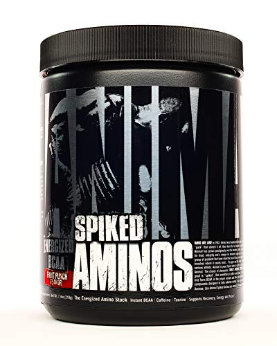 Animal Spiked Aminos - 5g Instant Bcaa - 160mg Spiked Energy Blend - Fruit Punch - 30 Servings, Fruit Punch, 30 Count