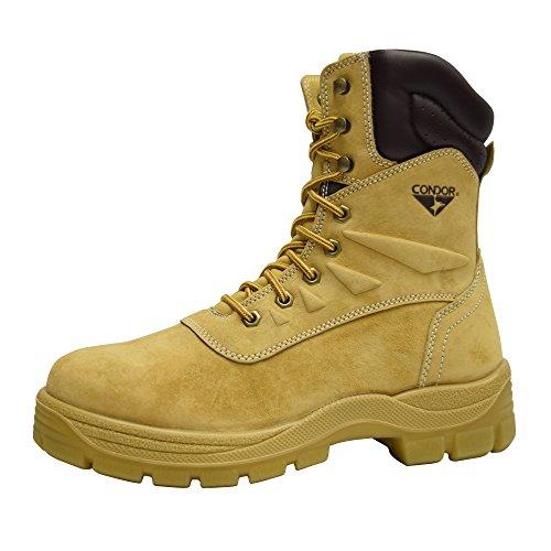 Condor Dakota Men's 8' Steel Toe Work Boot - Wheat, Size 9 E US