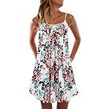 &35 Vestido de mujer de tallas grandes S-5xl, estilo bohemio, estampado de playa, vestido corto de verano sexy -  Multi -  5X-Large