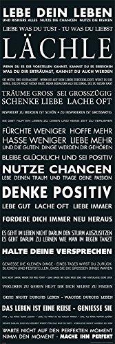 empireposter Motivational - Lebe Dein Leben - schwarz - Kunstdruck - Miniposter Druck -Größe 30,5x91,5