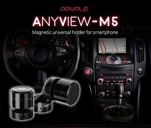 車載マグネットホルダー【ANYVIEW-M5】 車載スタンド 2つのタイプ【6ヶ月保証付き】マグネット 磁力タイプ 強力なマグネット スマホ スマートフォン タブレット 多機種対応 携帯 アルミ iPad iPod iPhone6s iPhone5s
