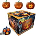 NTSS 2020 Halloween Flash, Halloween Talking Animated Pumpkin with Built-in Projector & Speaker, 3-in-1 LED Pumpkin Projection Lamp for Home Party (3in1)