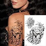 3pcsWater Transfer Tattoo Robot Brazo Manga Tatuaje Femenino Butterfly Girl Tattoo Waterproof