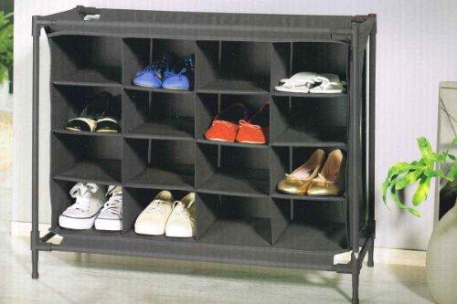 Ordex Ordnungshelfer/Schuhregel - bis zu 16 Paar Schuhe - Erweiterbar (Grau)