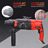 Cheston Rotary Hammer Drill Machine 26 MM 850W 900RPM 3 modes with 3-Piece Drill Bit and 2 Chisel