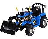 ENFANTS lectrique 12V/batterie Ride On tracteur/pelleteuse Bleu