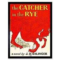 Book Cover Catcher Rye Salinger Classic Red Horse City Novel Art Print Framed Poster Wall Decor 12X16 Inch 本カバークラシックうまシティポスター壁デコ