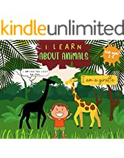 I learn about animals : funny educational book for kids and toddlers (English Edition)