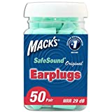 Mack's Original Soft Foam Earplugs, 50 Pair (Pack of 2)