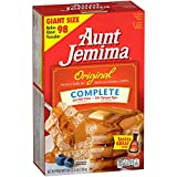 Aunt Jemima Pancake & Waffle Mix, Original Complete, 50 Serving Box (Packaging May Vary)