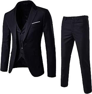 Men's Suit Slim 3-Piece Suit Blazer, Business Wedding Party Jacket Vest & Pants, Sunsee Teen 2019 New Year