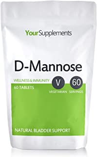 D-Mannose Tablets   1000mg X 60   Double Strength   A