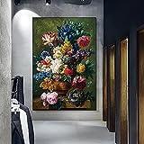 Yegnalo Clásico Rosa Pintura al óleo Lienzo Pintura Cartel impresión Arte de la Pared Sala de Estar decoración del hogar