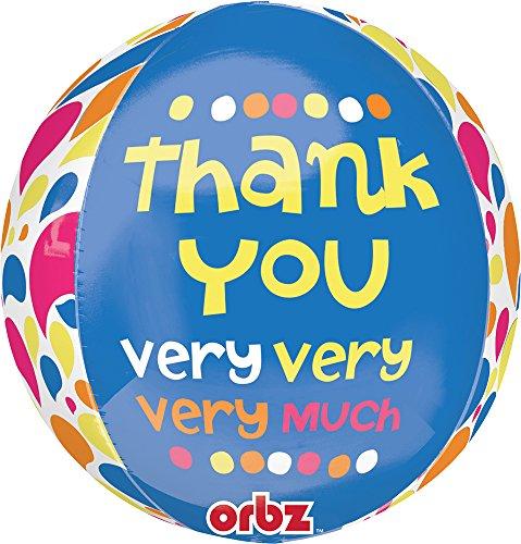 Amscan dank u zeer zeer Orbz folie ballonnen 15