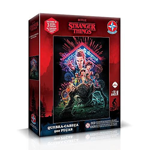 Quebra-cabeça, Stranger Things T. 3, 500 peças, Estrela - Exclusivo Amazon