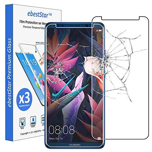 ebestStar - [Pacco x3 Vetro Temperato Compatibile con Huawei Mate 10 PRO 2017 Protezione Schermo Pacco da 3 Pellicole Anti Shock, Anti Rottura, Anti graffio [Apparecchio: 154.2x74.5x7.9mm, 6.0'']