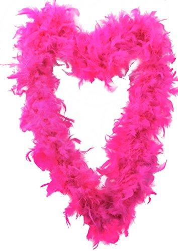 24 x pluma Boa 65 g grosor accesorio de noche de despedida de soltera vestido flapa boas en 10 colores plumas burlesesas de los años 20 (rosa caliente)