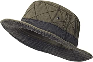 Gorro pescador Sombreros de cubo para Hombres y Mujeres, Sombrero de Panamá de algodón Lavado, Gorra de Pesca y Caza, Gorr...