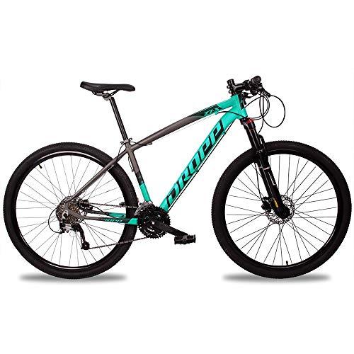 Bicicleta Z7-X Aro 29 Quadro 17 Alumínio 27v Suspensão Trava Freio Hidráulico Cinza Anis - Dropp