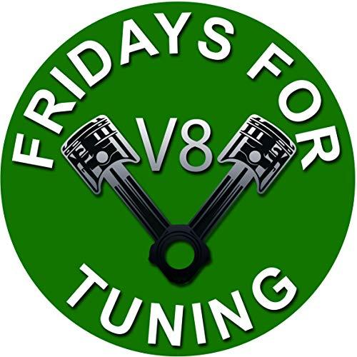 Fridays for Tuning Auto V8 Motor Hubraum Aufkleber Fuck You Greta Sticker - es reicht Dirty Diesel Sticker Autoaufkleber Felgen Tuining Sticker Autotuning CO 2 Skandal
