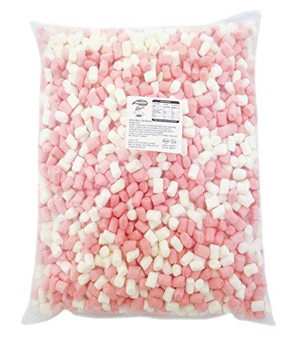 100% Halal Mini Mallows Pink & White 1kg Marshmallows ohne Schweinegelatine