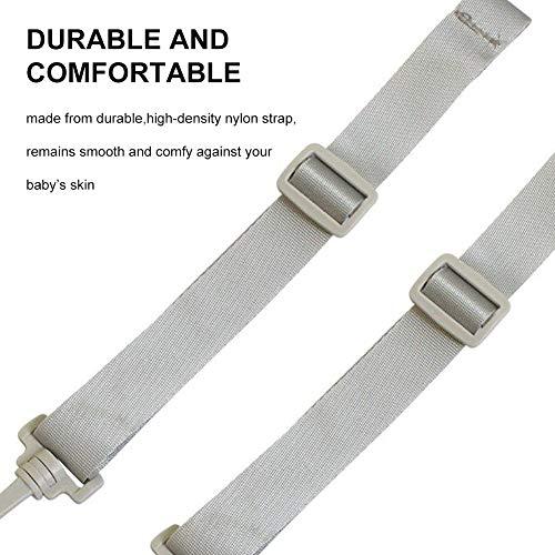 Seggiolone Cinghie - WENTS 2 Pezzi 5 Punti Cintura Imbracatura Universale Regolabile Cintura Sicurezza Bambini Anche per Passeggino e Seggiolino