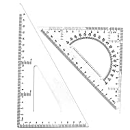 BronaGrand Triangle Ruler Square Set, 30/60 and 45/90 Degrees, Set of 2
