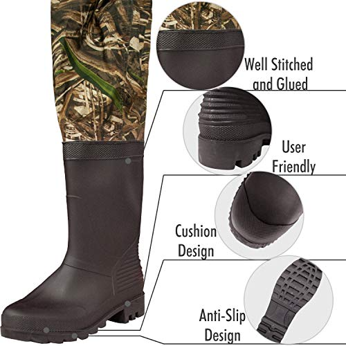 Size Chart for OXYVAN Waterproof Men and Women Fishing Chest Waders