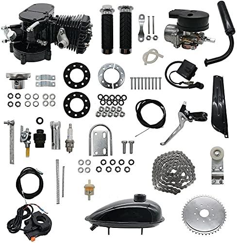 Kit de motor de motor de bicicleta: 80cc se adapta al kit de motor de bicicletas de 26 '28', kit de motor de bicicleta de 2 tiempos, kit de motor de bicicleta motorizado, kit de motor de bicicleta com