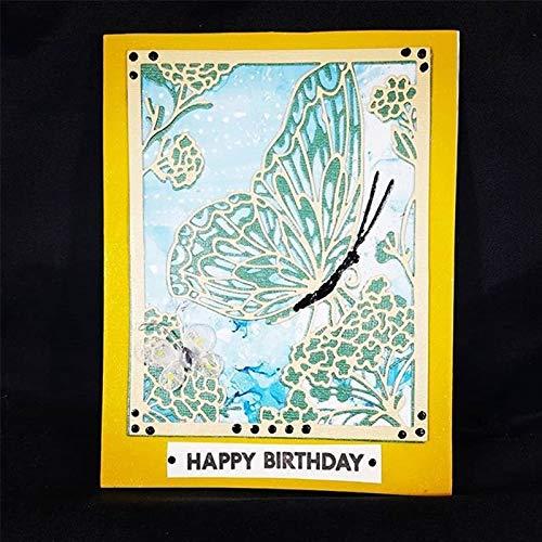 Yuanrui 2020 Stanzschablonen Schmetterling im Wald und Baum, für Bastelarbeiten, Scrapbooking, Prägung, Karten, Basteln, Vorlagen