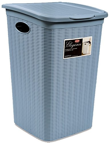 Stefanplast Ropa 2075935 Elegancia Cesta Cielo Azul de plástico de 37 x 38 x 55 cm