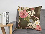 Pillowcase Cushion Case Pink Beautiful Spring Floral Petal Bouquet White Flora Daffodils Template Colorful Nature Textures Cozy Linen Square Decorative Throw Pillow Covers for Couch Bed 16x16 Inch