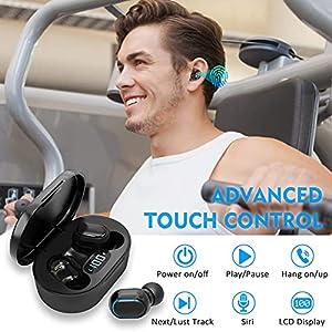 Bluetooth Earbuds Wireless Headphones 24H Playtime IPX5 Waterproof in-Ear Earphones Built-in Mic Earphones Headsets with Charging Case
