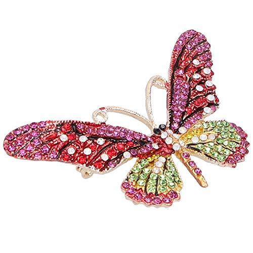 Broche Pin Insignias, Broche de mariposa, Accesorio de ropa de moda de feria comercial Broche de regalo para mujer de feria comercial(red)
