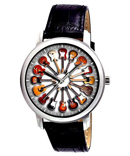 Circle of Guitars - Reloj de pulsera eléctrico y acústico de 40...